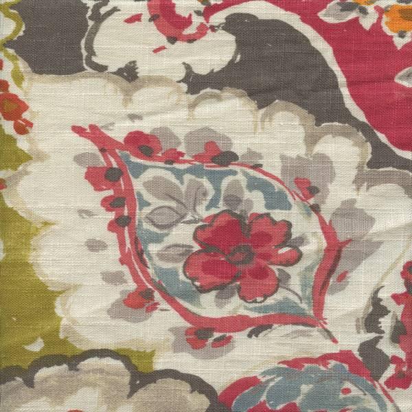 Aretha Red Drapery Fabric