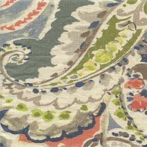 Aretha Coral Drapery Fabric