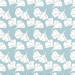 Ginko Spa Blue Fan Floral Cotton Drapery Fabric by Premier Prints Fabrics 30 Yard Bolt