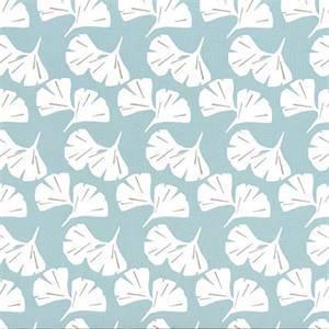 Ginko Spa Blue Fan Floral Cotton Drapery Fabric by Premier Prints Fabrics 30 Yard Bolt