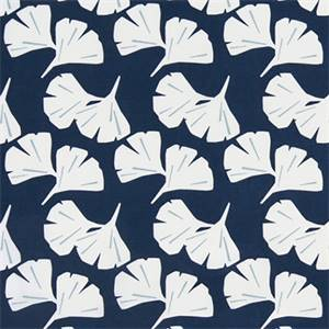 Ginko Vintage Indigo Fan Floral Cotton Drapery Fabric by Premier Prints Fabrics 30 Yard Bolt