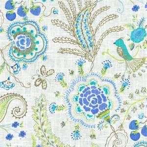 Hidden Charms Tide Pool Drapery Fabric by Waverly