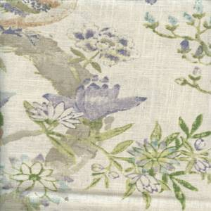 Arielle Heather Printed Linen Drapery Fabric by Braemore Fabrics