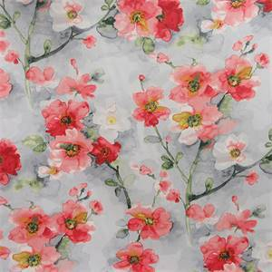 Tree Blossom Berry Floral Drapery Fabric by Waverly Fabrics