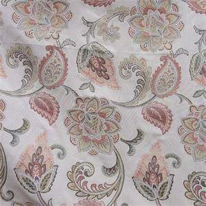 Salmon Floral Upholstery Fabric 13SESRL