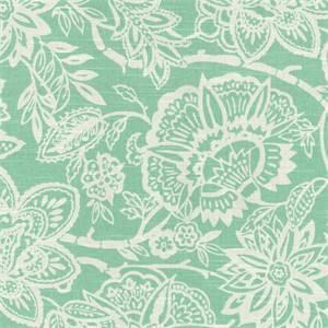 Cimino Aqua Floral Fabric by Richloom