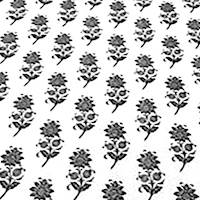 Chantilly Black White Floral Fabric by Premier Prints