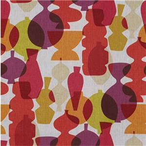 Indian Pottery Beetroot Linen Drapery Fabric