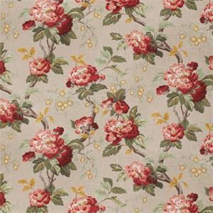 Yugo Henna Floral Linen Blend Fabric by Fabricut