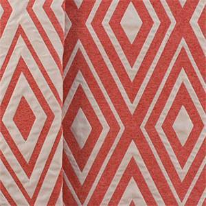 Eternity Geometric Diamond Coral Upholstery Fabric