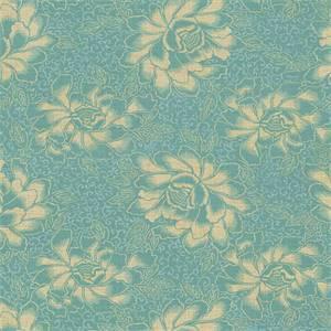 Boho Batik Floral Drapery Fabric