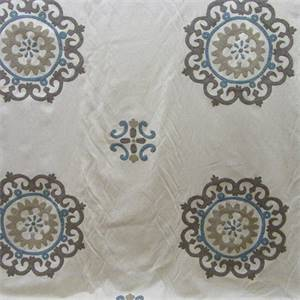 Konya Suzani Dusk Embroidered Drapery Fabric by Waverly Fabrics