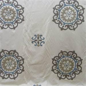 Konya Suzani Dusk Embroidered Drapery Fabric by Waverly Fabrics
