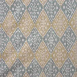 Varanasi Cotton Ikat Seaglass Green Drapery Fabric by Waverly Fabrics