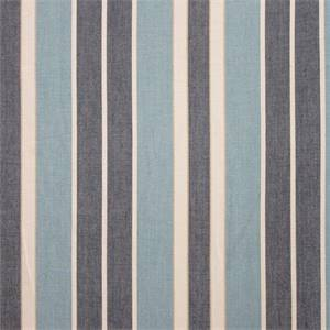 Beacon Stripe Chambray Indigo Cotton Drapery Fabric by Waverly Fabrics