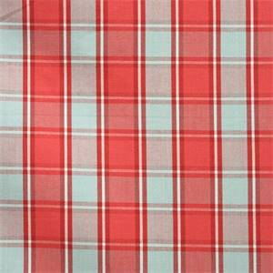 Montserrat Plaid Watermelon Cotton Drapery Fabric by Waverly Fabrics