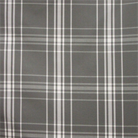 Belize Plaid Charcoal Gray Cotton Drapery Fabric by Waverly Fabrics