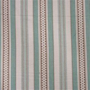 Wiltshire Stripe Aqua Blue Green Stripe Fabric by Waverly Fabrics