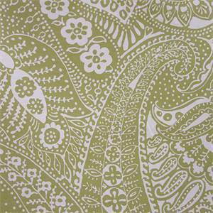 Paisley Print Soft Chartreuse Linen Fabric