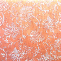 Benson Coral Printed Cotton Drapery Fabric by Richloom