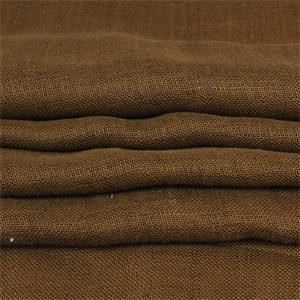 San Rafael Sheer Cocoa Brown Linen Fabric