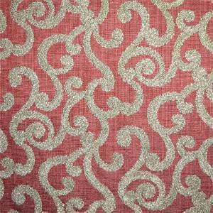 Loel Rust Boucle Embroidery Scroll Design Fabric by Swavelle Millcreek