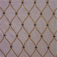 Genova Embroidery Wheat Drapery Fabric by Swavelle Mill Creek