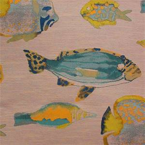 Hook Line and Sinker Ocean Fabric by Textile Fabric association