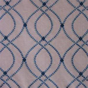 Lumi Embroidery Marine Blue Drapery Fabric by Swavelle Fabrics