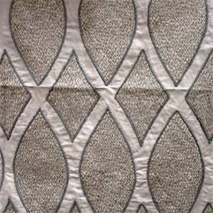 Zula Linen Embroidered Diamond Linen Blend Drapery Fabric
