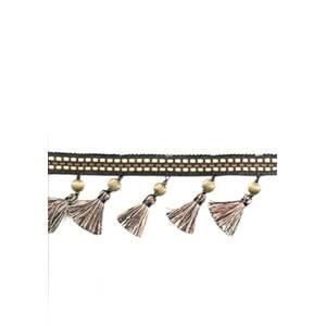 Antiqua Frape Black & Gold Tassel Fringe