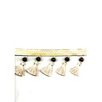 Antiqua Mocha Taupe Tassel Fringe