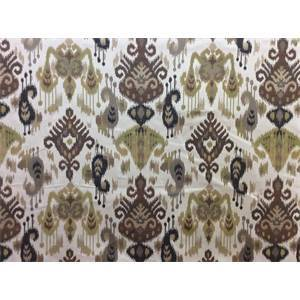 Majiko Teak Brown Ikat Upholstery Fabric