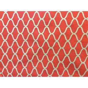 Warf Blood Orange Moroccan Tile Upholstery Fabric