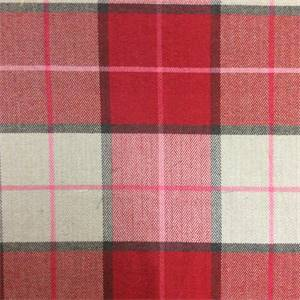 Martindale Plaid Upholstery Fabric in Color Scarlet
