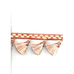 YF253 Brick Tassel Fringe Gold/Rust