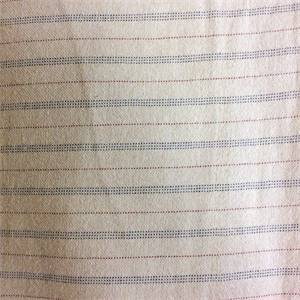 Cream Comfort Stripe Drapery Fabric