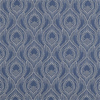 Alyssa Regal Navy Slub Canvas Printed Drapery Fabric by Premier Print Fabrics