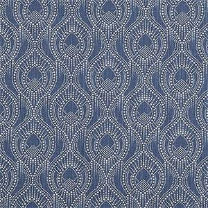Alyssa Regal Navy Slub Canvas Printed Drapery Fabric by Premier Print Fabrics 30 Yard Bolt