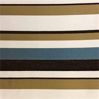 Ocean Isle Stripe Teal Blue Upholstery Fabric