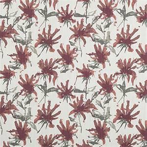 Kendal Scarlet Slub Canvas Printed Drapery Fabric by Premier Print Fabrics 30 Yard Bolt