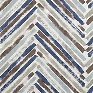 Stella Regal Blue Slub Canvas Printed Drapery Fabric by Premier Print Fabrics 30 Yard Bolt