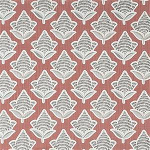 Makoto Scarlet Slub Canvas Printed Drapery Fabric by Premier Print Fabrics