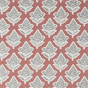 Makoto Scarlet Slub Canvas Printed Drapery Fabric by Premier Print Fabrics 30 Yard Bolt