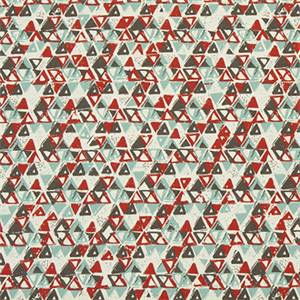 Acute Formica Red Macon Cotton Drapery Fabric by Premier Print Fabrics 30 Yard Bolt