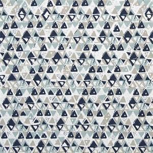 Acute Vintage Indigo Cotton Drapery Print by Premier Print Fabrics 30 Yard Bolt