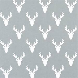 Antlers Cool Gray Cotton Drapery Fabric by Premier Print Fabrics 30 Yard Bolt