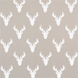 Antlers Ecru Twill Cotton Drapery Fabric by Premier Print Fabrics 30 Yard Bolt