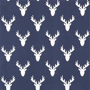 Antlers Vintage Indigo Cotton Drapery Fabric by Premier Print Fabrics 30 Yard Bolt