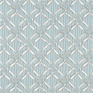 Bora Bora Spa Blue Printed Cotton Drapery Fabric by Premier Print Fabrics 30 Yard Bolt